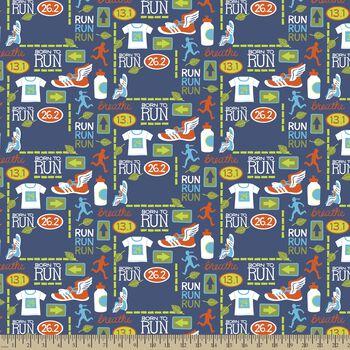 Run Run Run Print Fabric