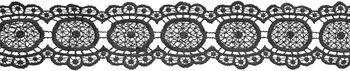 Wrights® Circular Venice Lace Trim 2.25''x10 yds-Black