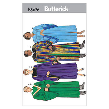 Butterick Pattern B5626 Adult Yoked Robes & Collars-All Sizes
