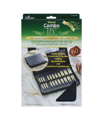Clover® Takumi Bamboo Interchangeable Circular Knitting Needle Set