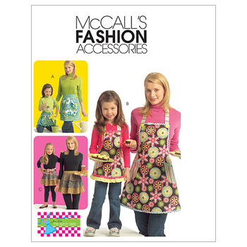 McCall's Patterns M5720 Misses' & Children's Full & Half Aprons