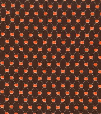 "Holiday Showcase™ Harvest Cotton Fabric 43""-Pumpkin Diamonds"
