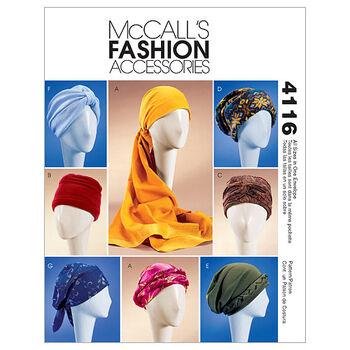 McCall's Misses Headgear-M4116