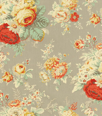"""Waverly Upholstery Fabric 54""""-Sanctuary Rose Clay"""