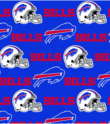 Buffalo Bills Cotton Fabric 58''-Blue