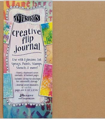 "Dyan Reaveley's Dylusions Creative Flip Journal-Kraft 12""X8.5"""