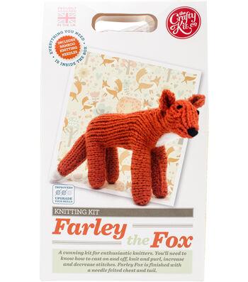 The Crafty Kit Co. Knitting Kit-Farley Fox