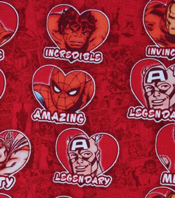 Valentine's Day Fabric 43''-Marvel Valentines Hearts