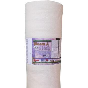 The Warm Company Warm & Plush Queen Size Cotton Batting 90''x25 yds