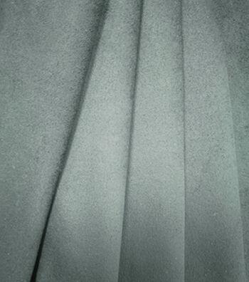 Suede Knit Faux Cloth Fabric 58''-Black Stretch
