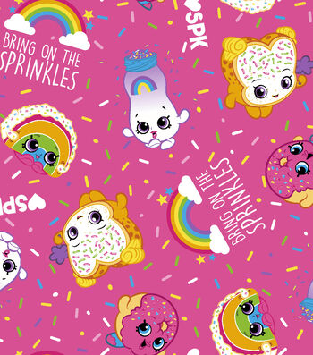 "Shopkins Fleece Fabric 59""-Bring on the Sprinkles"