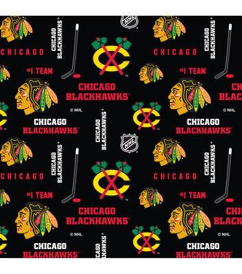 Chicago Blackhawks Cotton Fabric 43''-Mascot Logo