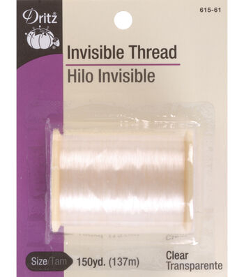 Dritz Invisible Thread 150 Yards-Clear & Smoke??