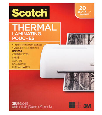 Thermal Pouches Letter Size 20pk
