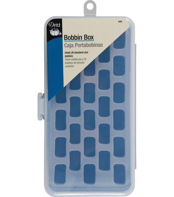 "Dritz 7"" x 3.75"" x 1.25"" Bobbin Box Holds 28pcs"