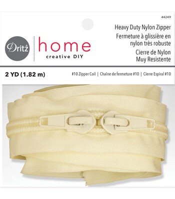 Dritz Home Heavy Duty Nylon Zipper Beige 72""