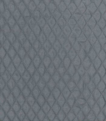 "Double Faced Quilt Fabric 42""-Gray Diamond"