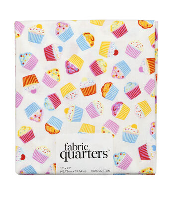 "Fabric Quarters Cotton Fabric 18""-Cupcake"