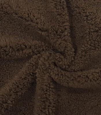 "Fashion Faux Fur Fabric 57""-Brown Sherpa"