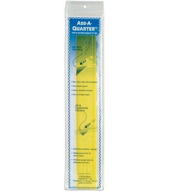 "Add-A-Quarter Clear Yellow Ruler-12"""