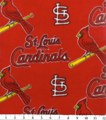 St. Louis Cardinals Fleece Fabric 58''-Red