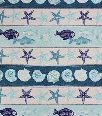 Solarium Outdoor Print Fabric 54''-Curacao Azure