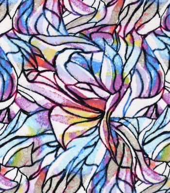 """Snuggle Flannel Fabric 42""""-Colorfuls Stained Glass"""