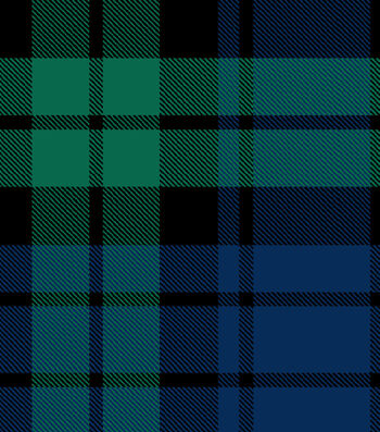 "Snuggle Flannel Fabric 42""-Tartan Plaid Navy Green"