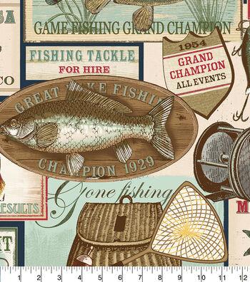 "Anti-Pill Fleece Fabric 58""-Fishing And Casting Club"