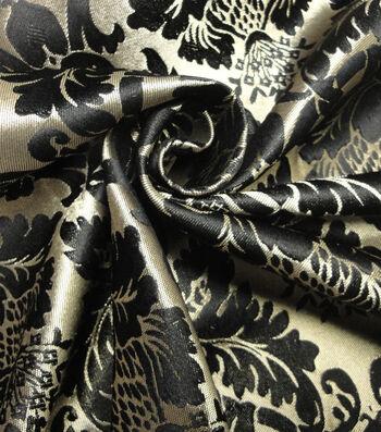 Yaya Han Cosplay Thrones Brocade Fabric 59''-Black & Gold