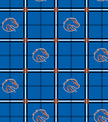 "Boise State University Broncos Flannel Fabric 42""-Plaid"