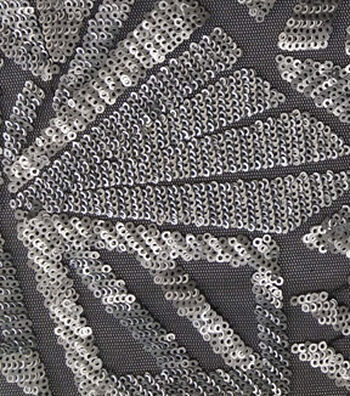 "Case Embellish Matte Sequin Fabric 51""-Silver"