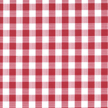 "Tablecloth Vinyl 54""-Gingham Check Red"
