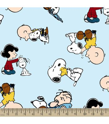 Peanuts™ Print Fabric-Snoopy and Friends