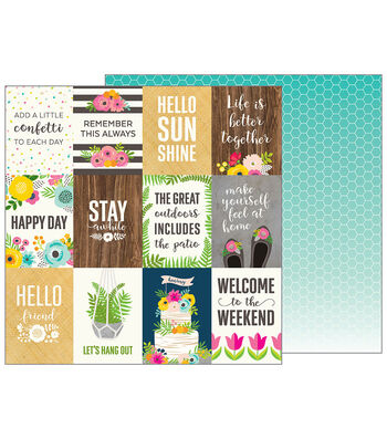 Pebbles Jen Hadfield Patio Party 25 pk Double-Sided Cardstock-Patio Life