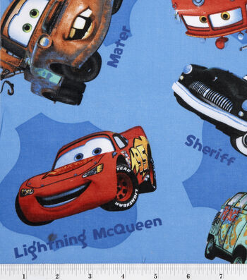 "Disney® Cars Cotton Fabric 43""-Toss"