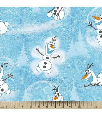 Disney® Frozen Print Fabric-Olaf's Winter