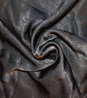 "Silky Sanded Satin Fabric 58""-Black"
