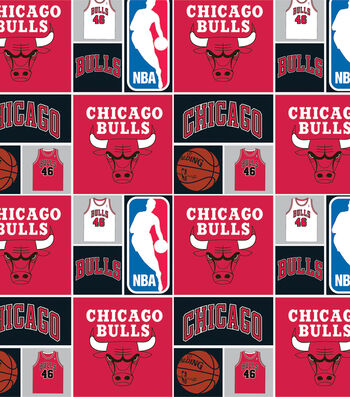 "Chicago Bulls Cotton Fabric 44""-Patch"