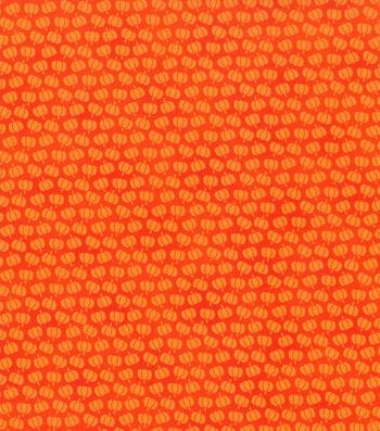 "Holiday Showcase™ Harvest Cotton Fabric 43""-Mini Pumpkins"