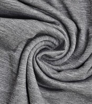 "Loungeletics Stretch Terry Performance Fabric 60""-Heather Black Gray"