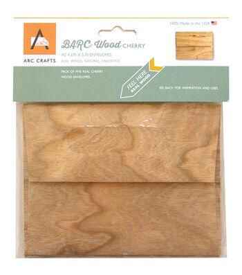 Arc Crafts BARC Wood Veneer 5ct A2 Envelopes-Cherry