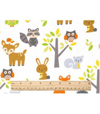 """Nursery Cotton Fabric 43""""-Woodland Animals"""