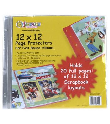 """Sandylion Page Protectors 12""""X12"""""""