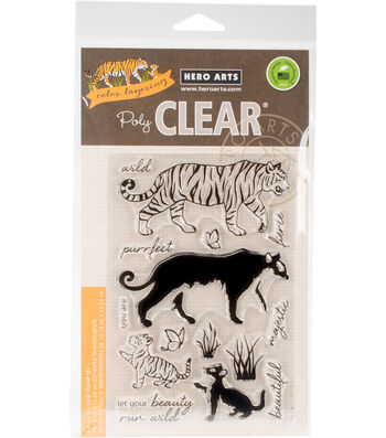 Hero Arts® 15 pk Clear Stamps 4''x6''-Color Layering Bengal Tigers