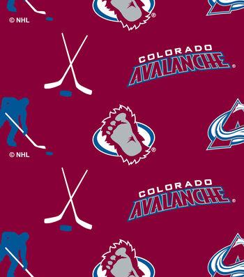 "Colorado Avalanche Fleece Fabric 60""-Tossed"