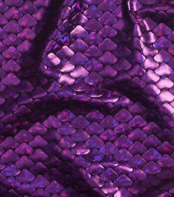 "Cosplay by Yaya Han Metallic Scales Fabric 59""-Metallic Purple"