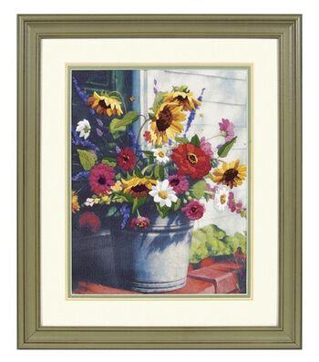 Cr- Bucket Of Flowers