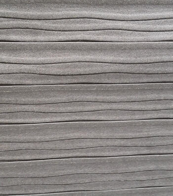 Fashion Suede - Crinkle Foil Silver Gray Poly