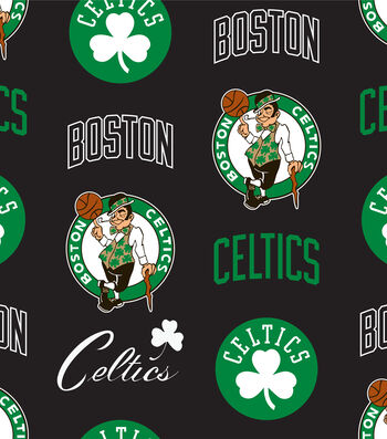 "Boston Celtics Fleece Fabric 58""-Tossed"